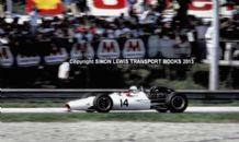 HONDA V12 RA300 John Surtees colour action photo Monza,1967 Italian GP 10x7""